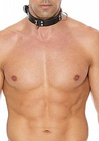 Deluxe Bondage Collar - Black/Black