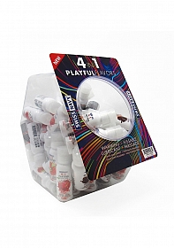 Playful 4 in 1 Lubricant Assorted Flavors - 30ml /50pcs Fishbowl