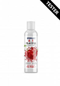 Poppin Wild Cherry Playful Flavored 4 in 1 Lubricant - 30ml - TESTER