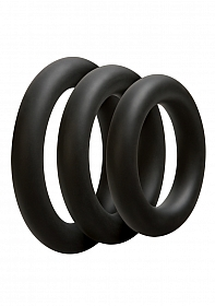 3 C-Ring Set - Thick - Black