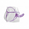 Vibrating 8inch Hollow Strap-On - Purple