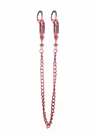 Helix Nipple Clamps - Red