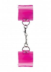 Pink Translucent Handcuffs with Velcro