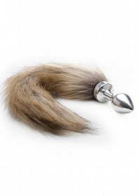 Fox Tail Buttplug - Silver