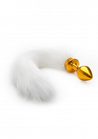 White Tail Buttplug - Gold