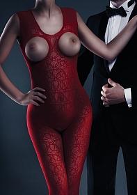 Zarah Bodystocking - Red - One Size