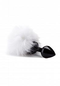 Beginner Bunny Tail Buttplug - Black