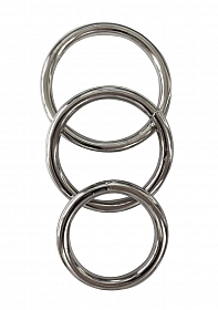 Metal Cock Ring 3-pack