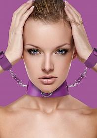 Collar with Cuffs - Purple