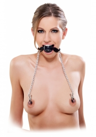 Ball Gag & Nipple Clamps