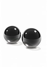 Black Glass Ben-Wa Balls Medium -