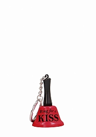 Ring For A Kiss - Keyring - Red