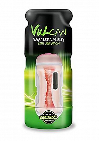 Vulcan Realistic Pussy w/Vibration, Cream