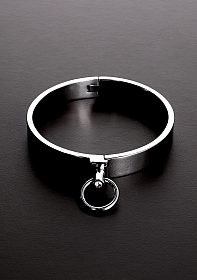 Classy Slave Collar with Gems - Size: 16