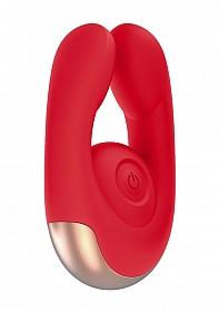 Dual Motor Clitoral Stimulator - Fancy - Red