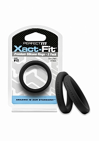#15 Xact-Fit Cockring 2-Pack - Black