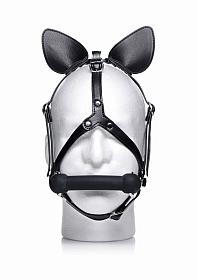 Dark Horse Pony Head Harness with Silicone Bit - Black