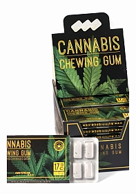 Cannabis Mint Chewing Gum 12-pack - Display - 24 pieces