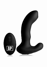 10X P-MASSAGE Prostate Stimulator with Stroking Bead - Black